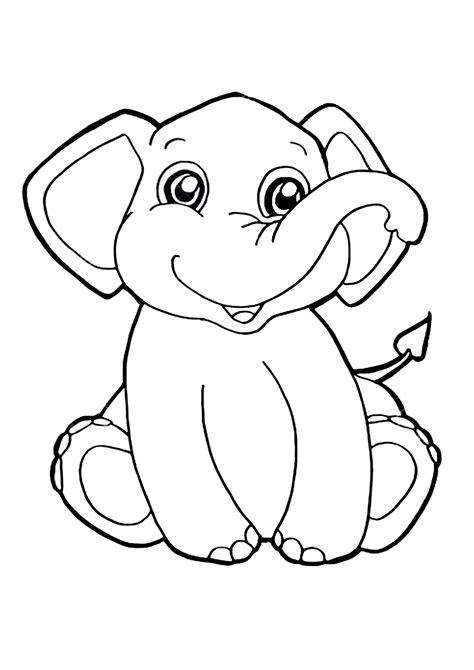disegni  elefanti da colorare pianetabambiniit