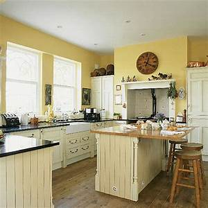 yellow kitchens laurie jones home With kitchen colors with white cabinets with wall art like urban outfitters
