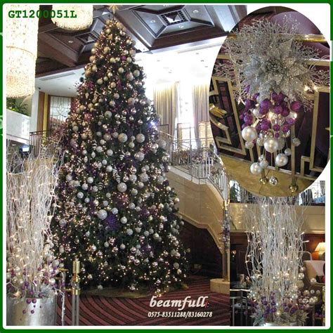 china 2013 new large colour ball christmas tree indoor