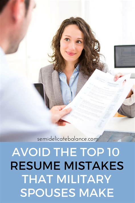 Top 10 Resume Mistakes by Avoid The Top 10 Resume Mistakes That Spouses Make