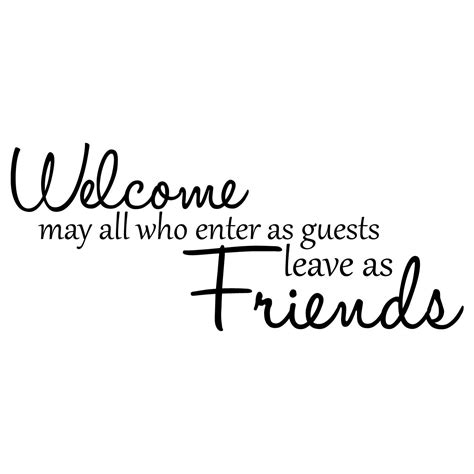 Quot Welcome To Kidonshop welcome friends quote wall sticker world of wall stickers