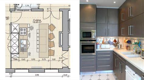 plans de cuisine ouverte plan appartement côté maison