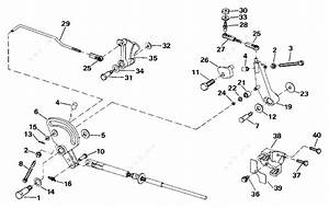 Johnson 1993 48 - Vj48eslete  Shift  U0026 Throttle Linkage