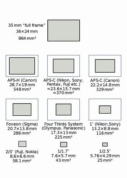 Sensor Sizes Frame Camera Digital Svg Pixels