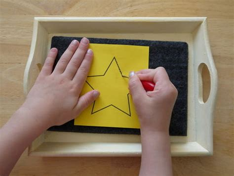 pin punching shapes montessori album