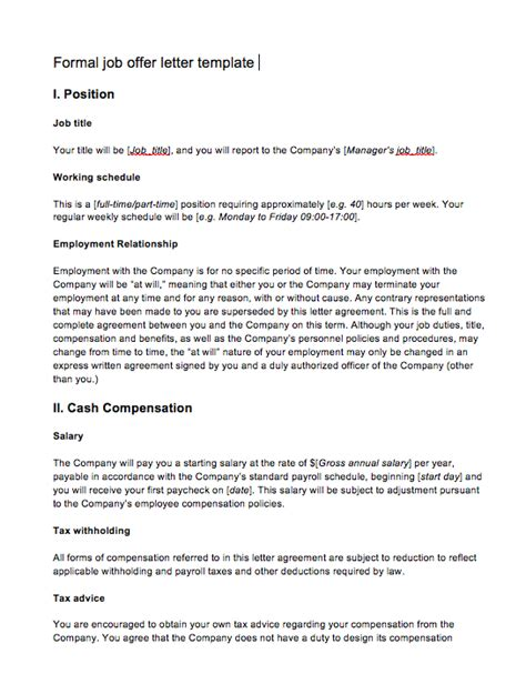 offer letter from employer to employee top form