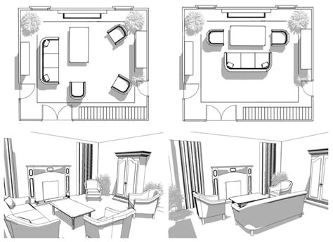 interactive furniture layout  interior design
