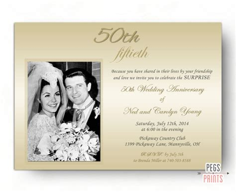 Surprise Wedding Anniversary Invitation Surprise 50th