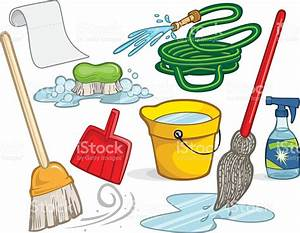 An Illustration Of Cleaning Supplies Stock Vector Art & More Images of Broom 165676465 iStock