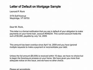 Letter of default for Mortgage default letter template