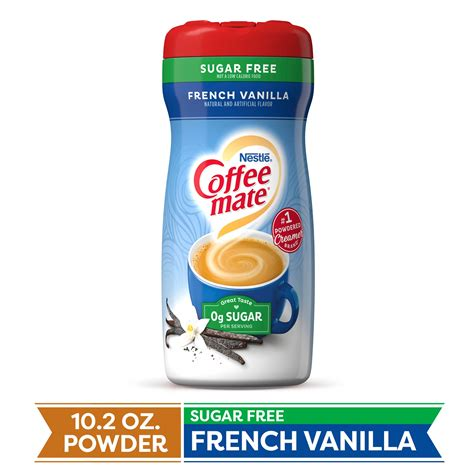 Order this sugar free version hoping to make it a little easier for people to make a better coffee decision. COFFEE MATE Sugar Free French Vanilla Powder Coffee Creamer 10.2 Oz. Canister | Non-dairy ...