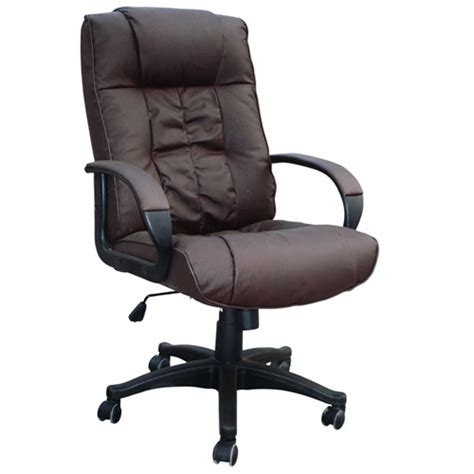 brown cow split leather high back office chair pc computer