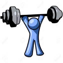 Man Lifting Weights Clip Art