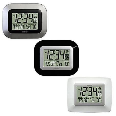 digital atomic desk clock la crosse technology atomic digital clock with in outdoor