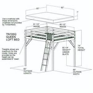 queen loft plan home bunk beds pinterest