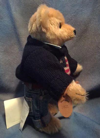 vintage steiff  dressed teddy bear ralph lauren