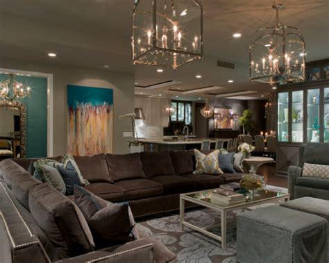 sala sofa marrom e parede cinza sala cinza 40 inspira 231 245 es dicas e ideias imperd 237 veis