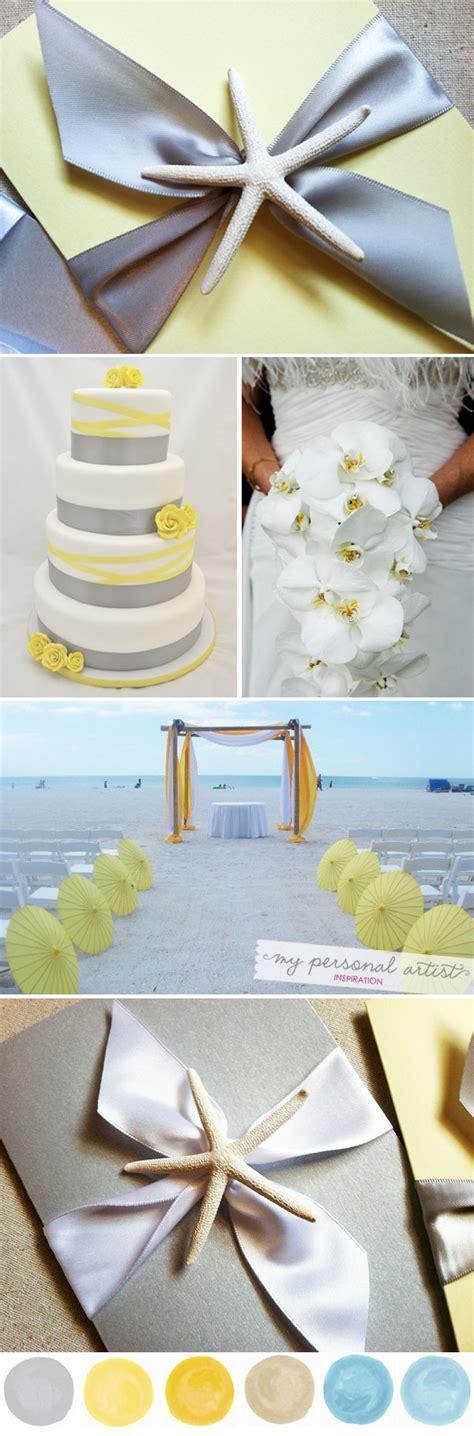 yellow  gray beach wedding ideas custom save