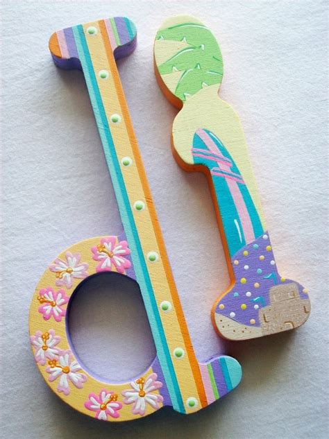 painted wooden letters 60 best images about painted letters on wooden