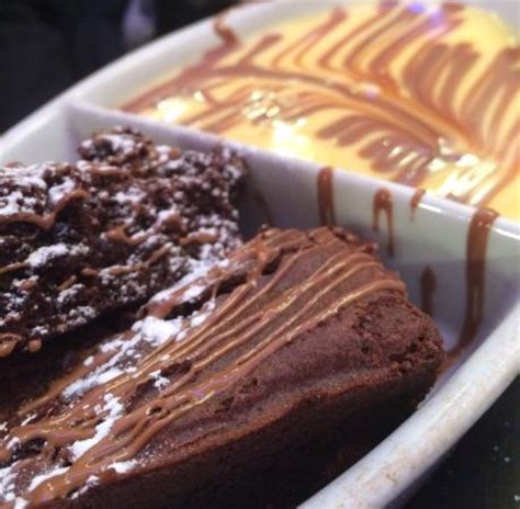 Chocolate Brownie And Custard  Picture Of Heavenly