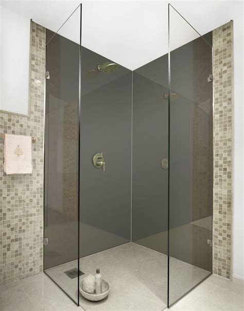 dark grey acrylic shower panels bathrooms shower