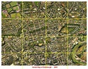 Aerial View of Edinburgh 2001 - with grid