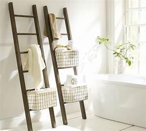 Echelle Decorative Casa : 10 toalleros diy originales para un ba o de bajo presupuesto ~ Teatrodelosmanantiales.com Idées de Décoration