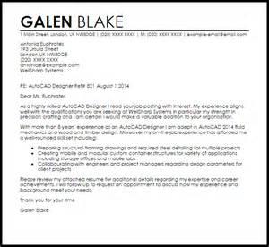 drafting resume cover letter autocad designer cover letter sle livecareer