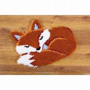 Canevas Pour Tapis : kit tapis point nou vervaco renard endormi ~ Farleysfitness.com Idées de Décoration