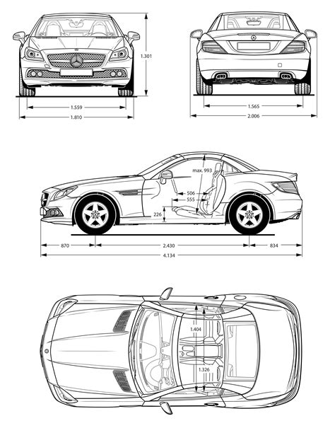 Mercedes-Benz SLK-Class R172 2011 Blueprint - Download