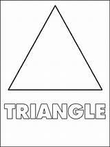 Coloring Triangles Printable Ausmalbilder Dreiecke Educational Malvorlagen Ausdrucken Kostenlos Zum sketch template