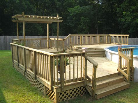above ground pool deck pictures deck builder garden structures pergolas arbors