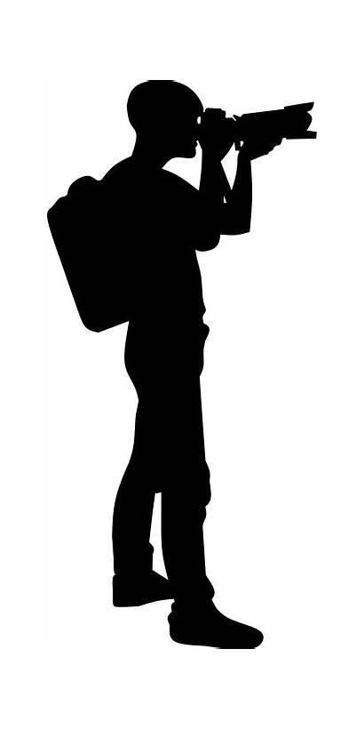 Silhouette Photographer Gambar Camera Hitam Pixabay Orang