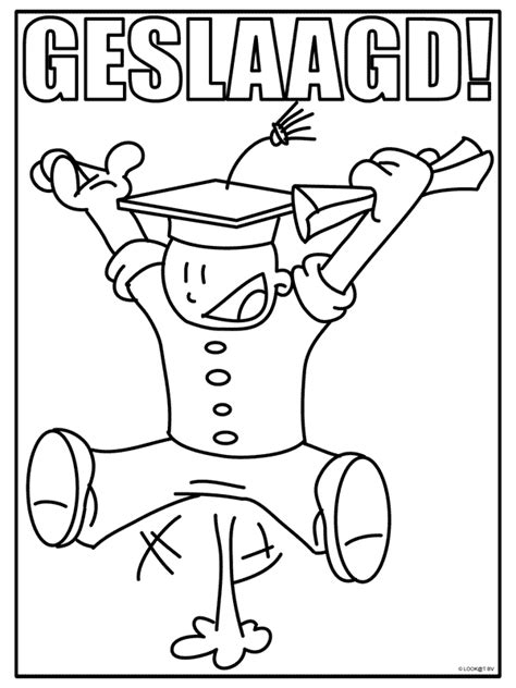Rijbewijs Kleurplaat by Kleurplaat Geslaagd Kleurplaten Nl