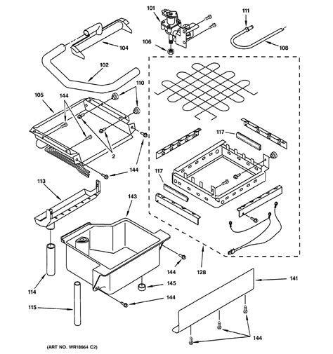 assembly view  evaporator ice cutter grid water parts zdicwwc