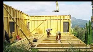 Maison En Bois Construction : construction maison ossature bois bbc youtube ~ Melissatoandfro.com Idées de Décoration