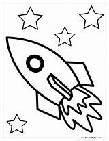 Rocket Coloring Ship Pages Space Drawing Spaceship Rockets Printable Outline Rocketship Sheet Colouring Sheets Clipart Template Houston Draw Preschool Print sketch template