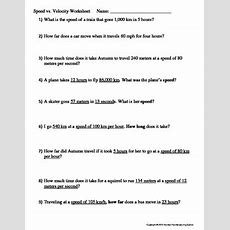 Speed Vs Velocity Worksheet By Family 2 Family Learning Resources