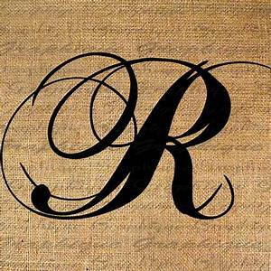 Items similar to Monogram Initial Letter R Digital Collage ...