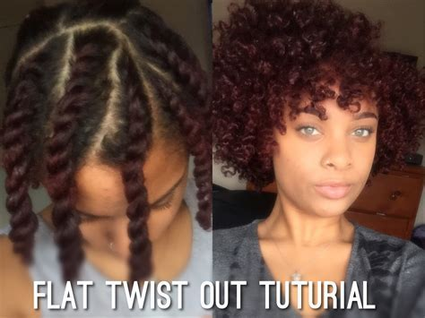 Flat Twist Out on Short/Medium Length Natural Hair   YouTube
