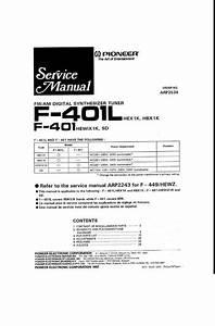 Pioneer F-401 Tuner   Original Service Manual