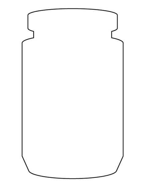 jar template jar pattern use the printable outline for crafts creating stencils scrapbooking and more