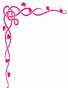 Pink Flower Design Border - ClipArt Best