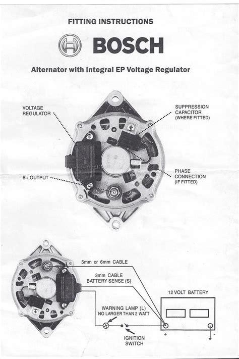 bosch regulator alternator wiring diagram bosch alternator working mechanical