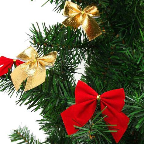 12pcs christmas tree ornaments xmas bowknot tree hanging