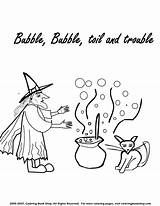 Coloring Cauldron Witch Halloween Printable Witches Pages Reserved Rights Copyright 2005 sketch template