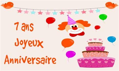 carte virtuelle anniversaire de mariage 7 ans carte anniversaire enfant 7 ans virtuelle gratuite 224 imprimer