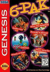 6 Pak Box Shot For Genesis Gamefaqs