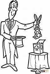 Magicien Cirque Magician Magique Coloriages sketch template