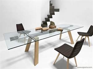 Table à Manger Verre Et Bois : table en verre extensible table de salle a manger design trendsetter ~ Teatrodelosmanantiales.com Idées de Décoration